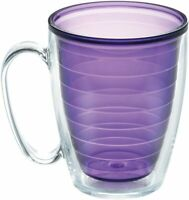 Tervis Clear & Colorful Insulated Tumbler, 16oz Mug - Tritan, Amethyst