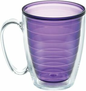 Tervis Clear & Colorful Insulated Tumbler, 16oz Mug - Tritan, Amethyst