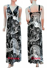 Polyester Paisley Regular Size Maxi Dresses for Women