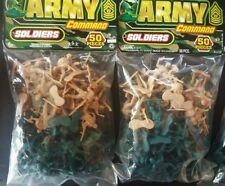 2 Pack Ja-Ru Army Command Soldiers Bundle Fun Toy 50 Pieces Each Pack New