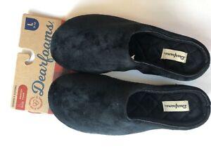New Dearfoams Genuine Beautiful Super Soft Black Women's Slippers - US Large