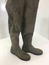 STUART WEITZMAN WOMEN'S STRETCH SUEDE OVER THE KNEE BOOT TAUPE SZ 7 NEW