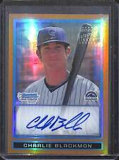 2009 Bowman Chrome Gold Refractor #BCP121 Charlie Blackmon No 46 of 50