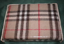 "PLAID BLANKET Cover Colour ""Burberry Nova"" WOOL 140x200 cm Mother's Day Gift"
