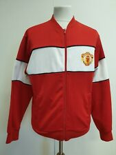 E49 MENS SCORE DRAW MANCHESTER UNITED RED WHITE TRACKSUIT JACKET TOP UK M EU 50