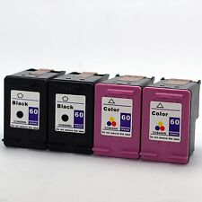 4 Pack HP 60 Black and Tri-Color Ink Cartridge Combo Set CC640WN CC643WN