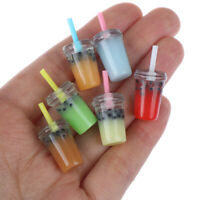 5pcs 1:12 Dollhouse Miniature Food Toy Straw cup Miniature Accessor JR