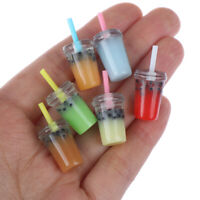 5pcs 1:12 Dollhouse Miniature Food Toy Straw cup Miniature Accessor Kn