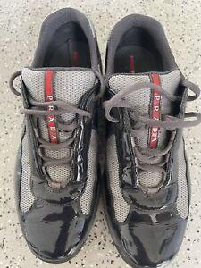 Prada Mens Sneakers America's Cup Patent US 10.5