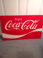 VINTAGE ENJOY COCA COLA COKE SODA POP ADVERTISING SIGN AM ALLEN MORRISON WAVE