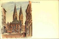 BREMEN Reprint-AK anno 1900 Nachdruck Kaiser-Wilhelm-Platz Dom Kirche Türme