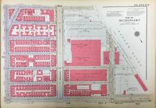 1934 HARLEM TRINITY CEMETERY WASHINGTON HEIGHTS MANHATTAN NY ATLAS MAP