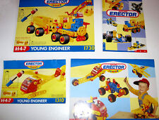 Erector Meccano Junior Manuals Lot - Four (4) - Step-by-Step Designs - 1993/1994
