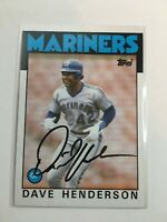 F66248 In Person Autographed Signed Auto Baseball Card DAVE HENDERSON MARINERS