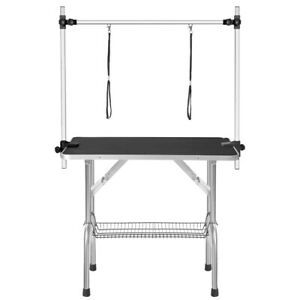 Dog Stainless Pet Grooming Table Arm Bath Supplies 36 Portable Adjustable USA