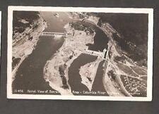 Vtg Postcard Columbia River Highway Oregon Rppc Or Aerial Bonneville Dam Sawyer