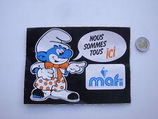 Sticker Old PVC Schleich Mafi Figurine Smurf Smurf Vintage Sticker