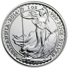 2014 ~ UNITED  KINGDOM ~ 1~OUNCE ~ FINE  SILVER ~ BRITANNIA ~ GEM COIN ! ~$32.88
