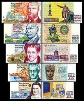 Irlanda - 2x 5, 10, 20, 50, 100 Pounds - Edición 1992 - 2001 Reproducción 01