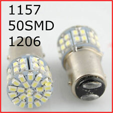 2x White 50smd 1206 LED T25 1157 BAY15D Brake Stop Signal Light Lamp Bulbs NEW