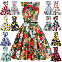 Grace Karin Vintage Style 50's 60s Swing Pinup Cocktail 40's Evening Party Dress