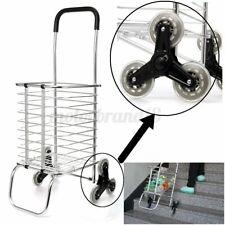 Folding Portable Shopping Cart Jumbo Basket Grocery Laundry Trolley Six Wheels