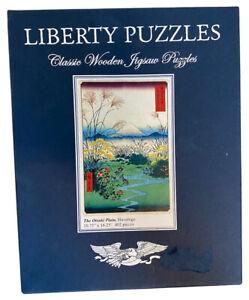 Liberty Classic Wooden Jigsaw Puzzle The Otsuki Plain Hiroshige -MISSING 1 PIECE