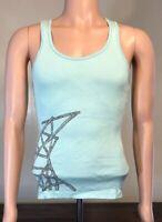 Jack Johnson Women's Tank Top To The Sea Graphic Shirt Sz Large Teal Sea foam L