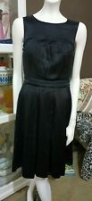 Veronika Maine silk black cocktail dress.Sz8.Worn once x fresh dry cleaned.