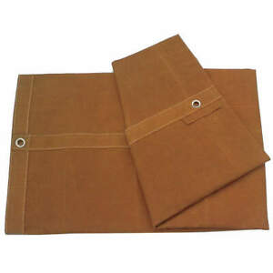 GRAINGER APPROVED 1A585 Tarp,Canvas,Tan,8x10Ft