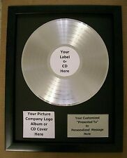 Pesonalized Platinum LP Album Record Award + Custom Plaque CD Display RIAA Style