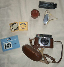 Ilford Sportsmaster 35mm + leather case and other accessories + manual