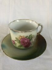 Vintage Greiner & Herda German Floral Tea Cup And Saucer set