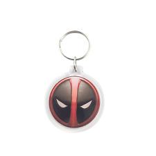 Deadpool Keychain - Marvel Superhero Zipper Charm Costume Party Favor Key Ring