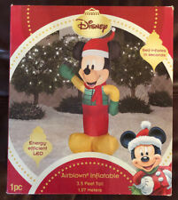 Disney Mickey Mouse Christmas Outdoor Airblown  Inflatable Lighted-3.5ft