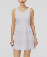 NWT City Studios Juniors' Crochet-Trim Textured Fit & Flare Dress Sz 9 (Macy's)