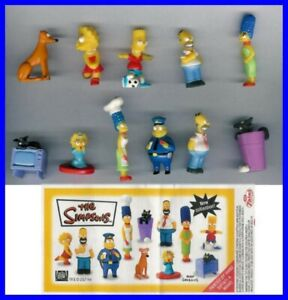The Simpsons Partie 2 Set 11 Mini Figurine Originales Dos Italie Bart Homer Lisa