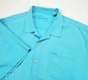 Tommy Bahama Royal Bermuda Islandzone Silk Blend Blue Camp Shirt 3XB BIG 3XL