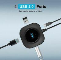 USB HUB 2.0 3.0 Multi Hub Extension Splitter 4 Ports For PC Laptop PS4 Flash New