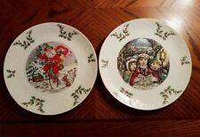 New Royal Doulton (2) Christmas Plates 1981 1982