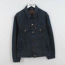 Mens Levis 70503 02 Denim Trucker Jacket Dark Blue Size S | Vintage Retro