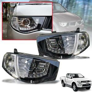 Head Lamp Light Projector LED Mitsubishi Triton L200 MN ML Pickup UTE 2005-2014