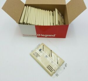 20PC Pass Seymour TP12-I Trade Master Wall Plate Cover 1 Gang Tele Cable Ivory