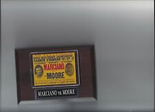 ROCKY MARCIANO vs ARCHIE MOORE POSTER PLAQUE BOXING CHAMPION PHOTO PLAQUE