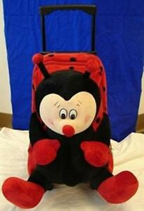 Amos LADYBUG PULL BAG Wheeled, Retractable Handle School Luggage Bag Pack