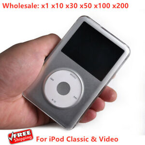 NEW Clear Crystal Hard Cover Case for Apple iPod Classic Video Thin - Lot