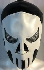PUNISHER WRESTLING-LUCHADOR MASK!!AWESOME!! GREAT FOR HALLOWEEN!!  HANDMADE!!!!
