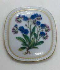 Flora Danica Vintage Royal Copenhagen Flower Porcelain Pin Pendant