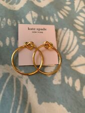 $58  Kate Spade Loves Me Knot Hoop studs earring Gold S132a