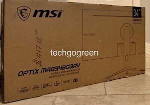 """MSI Optix MAG342CQRV 34"""" UWQHD 3440 x 1440 (2K) 1ms (MPRT) 100Hz 2 x HDMI - NEW!"""